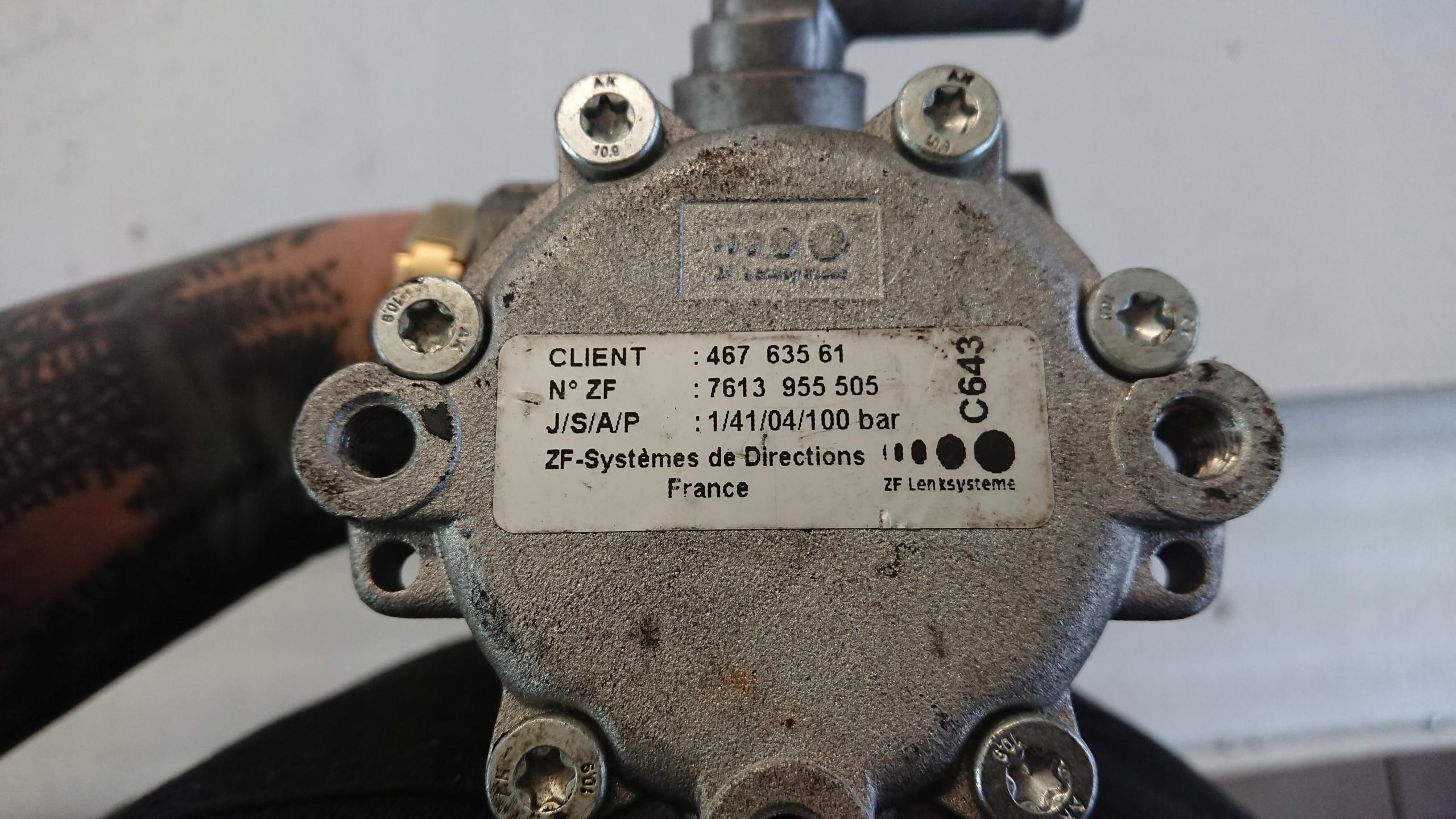 Насос гидроусилителя руля, alfa romeo 147 (альфа ромео), alfa romeo 147 насос гидроусилителя