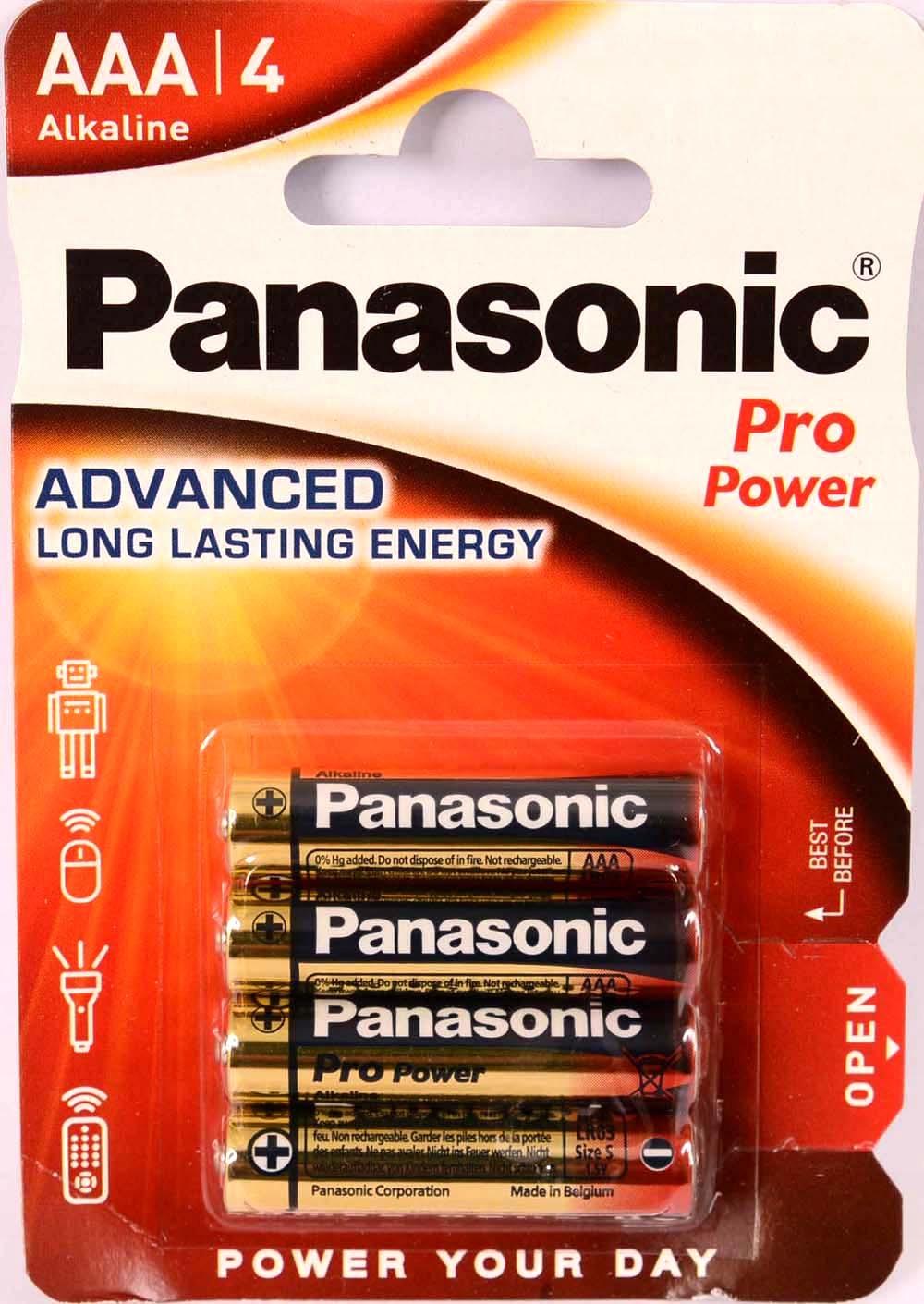 Panasonic LR LR03 AAA / 4 Batéria