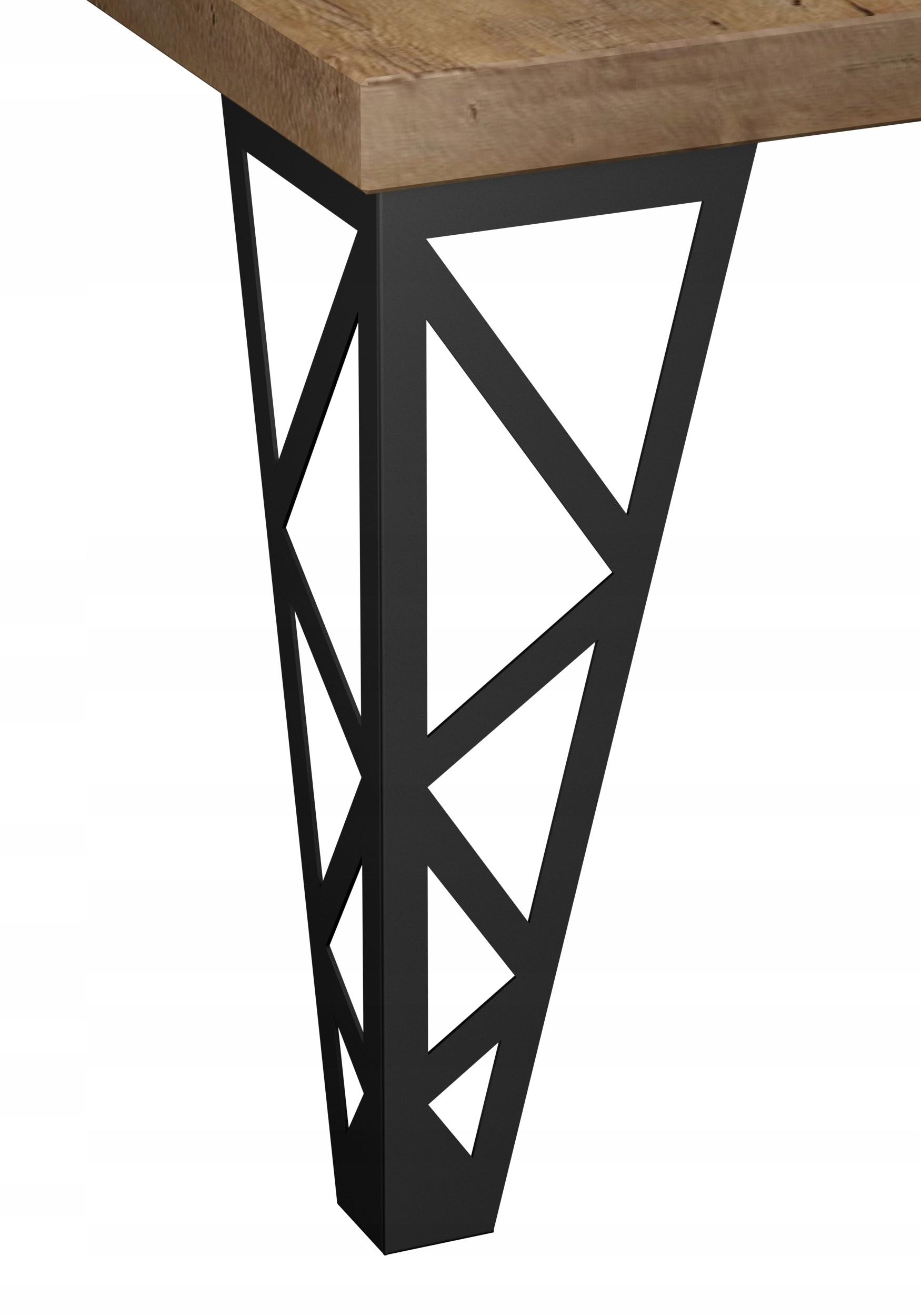 NOGA MEBLOWA LOFTOWA do ławy metalowa N17 40cm