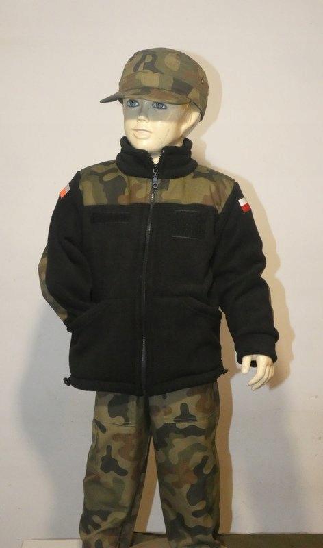Detská FLEECE vojenské vojakov -110-