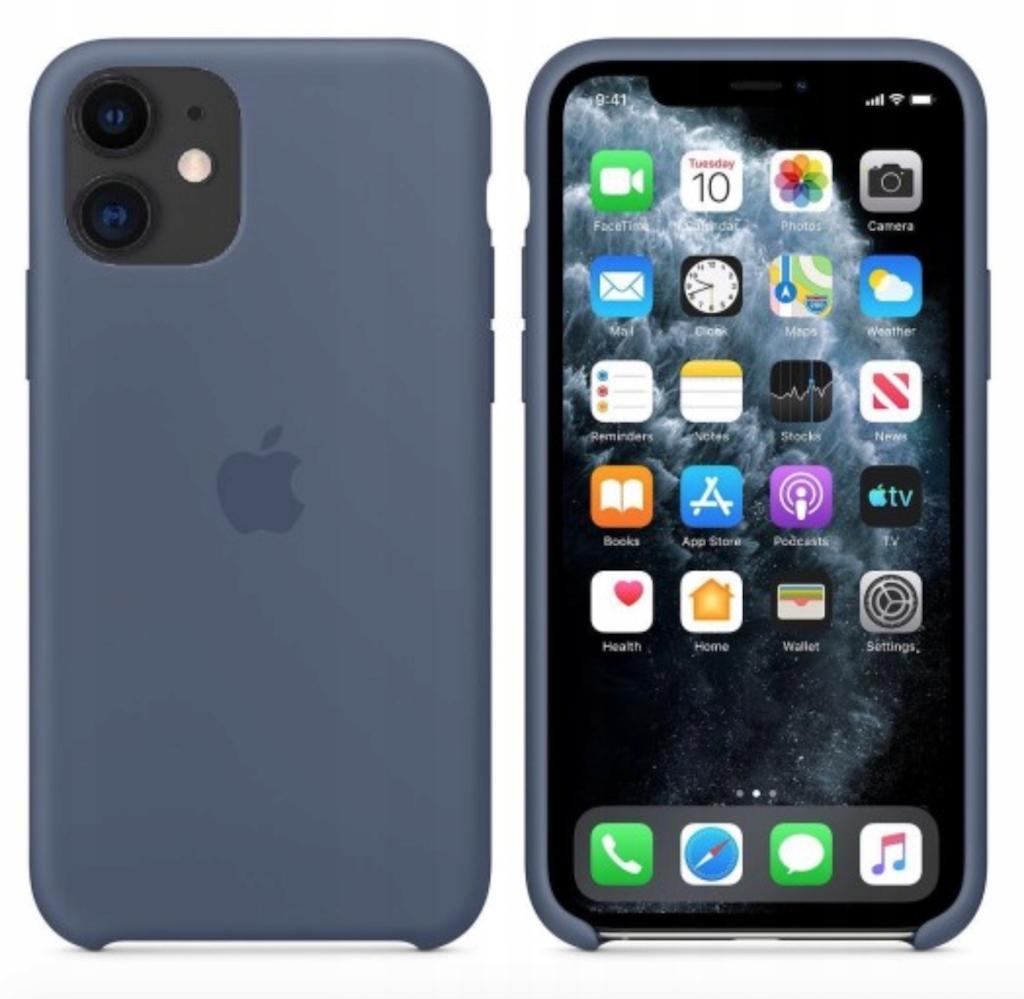 Etui silikonowe iPhone 11 (Nocny błękit)