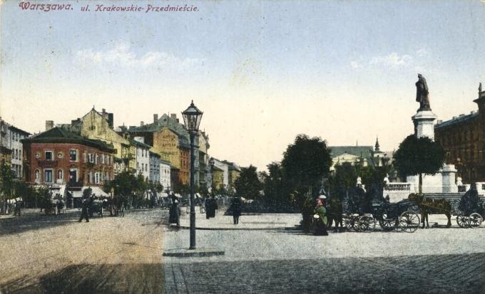 Varšava. Predmestie krakova. Feldpost 1915