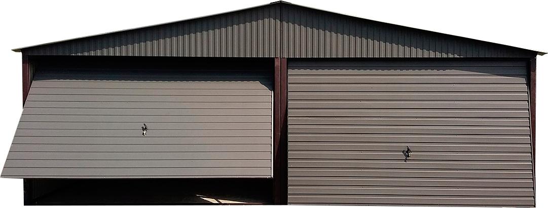 Металлический гараж на две машины, 6 х 5 м.