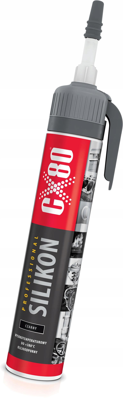CX80 Silikon wysokotemperaturowy CZARNY 210ml
