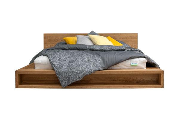 RETRO posteľ COMMAND vyrobená z jaseňového dreva 140x220