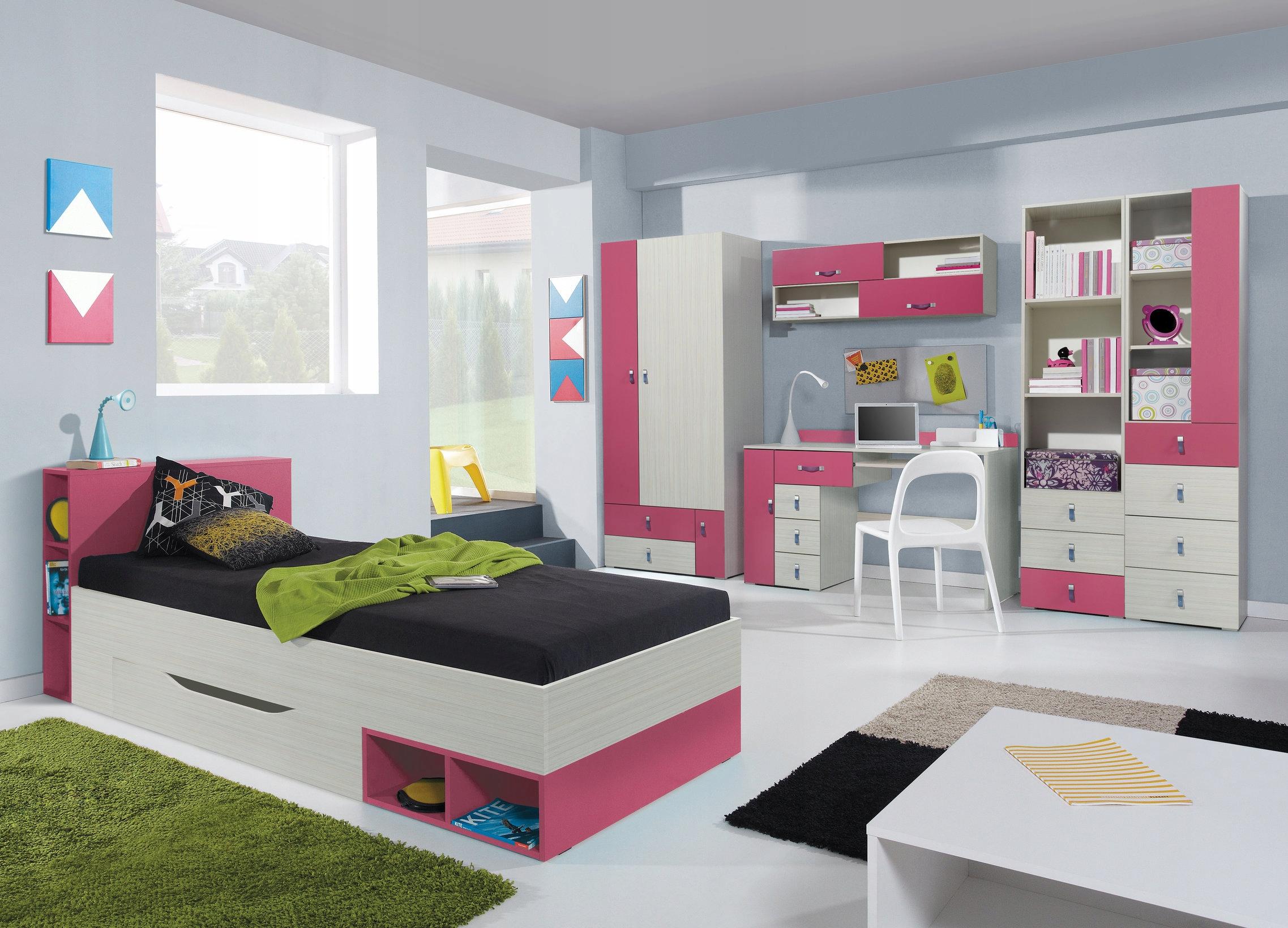 24 HODÍN! Dieťa nábytok Komi 4 modrá ružová