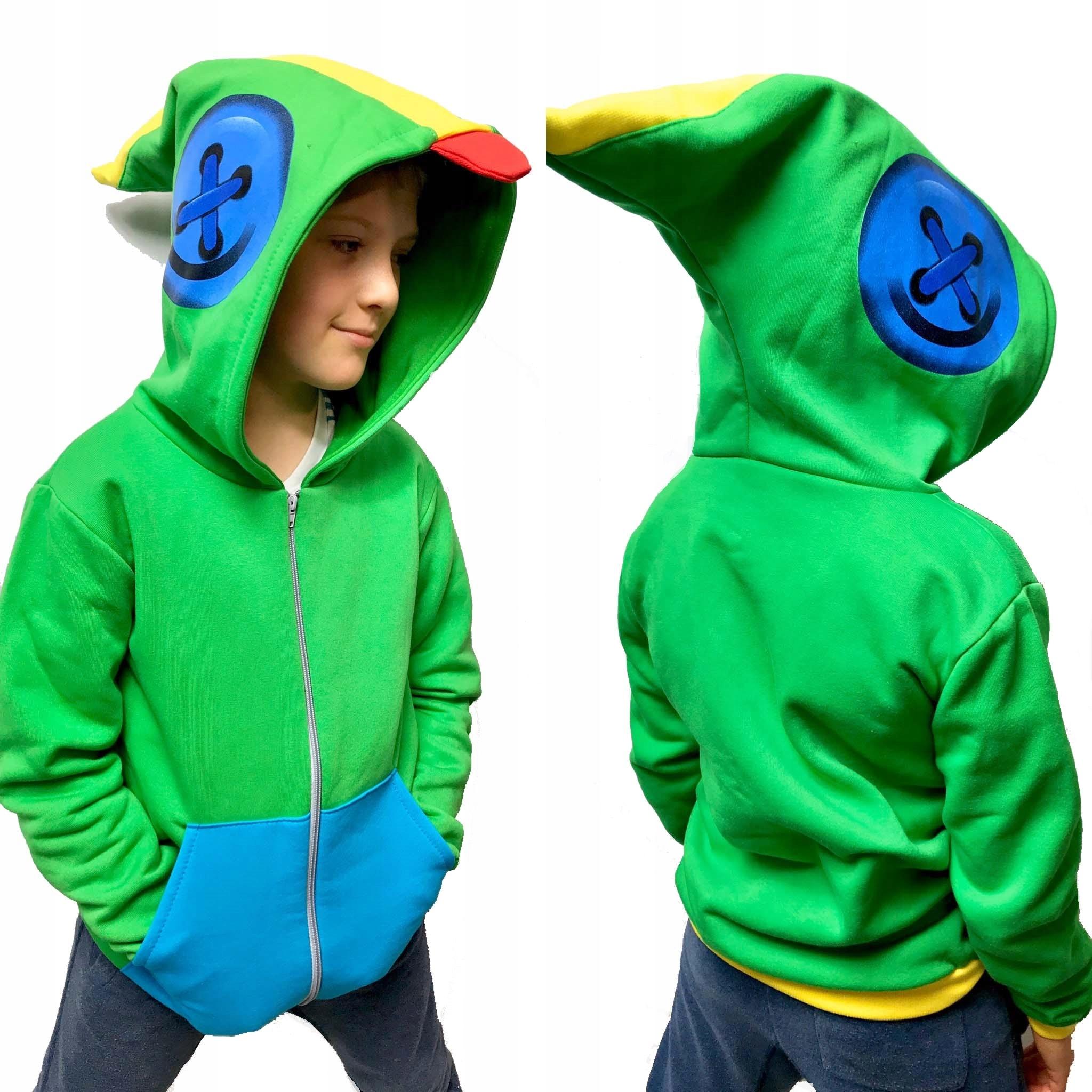 Bluza dziecięca LEON gra BRAWL STARS zielona 134