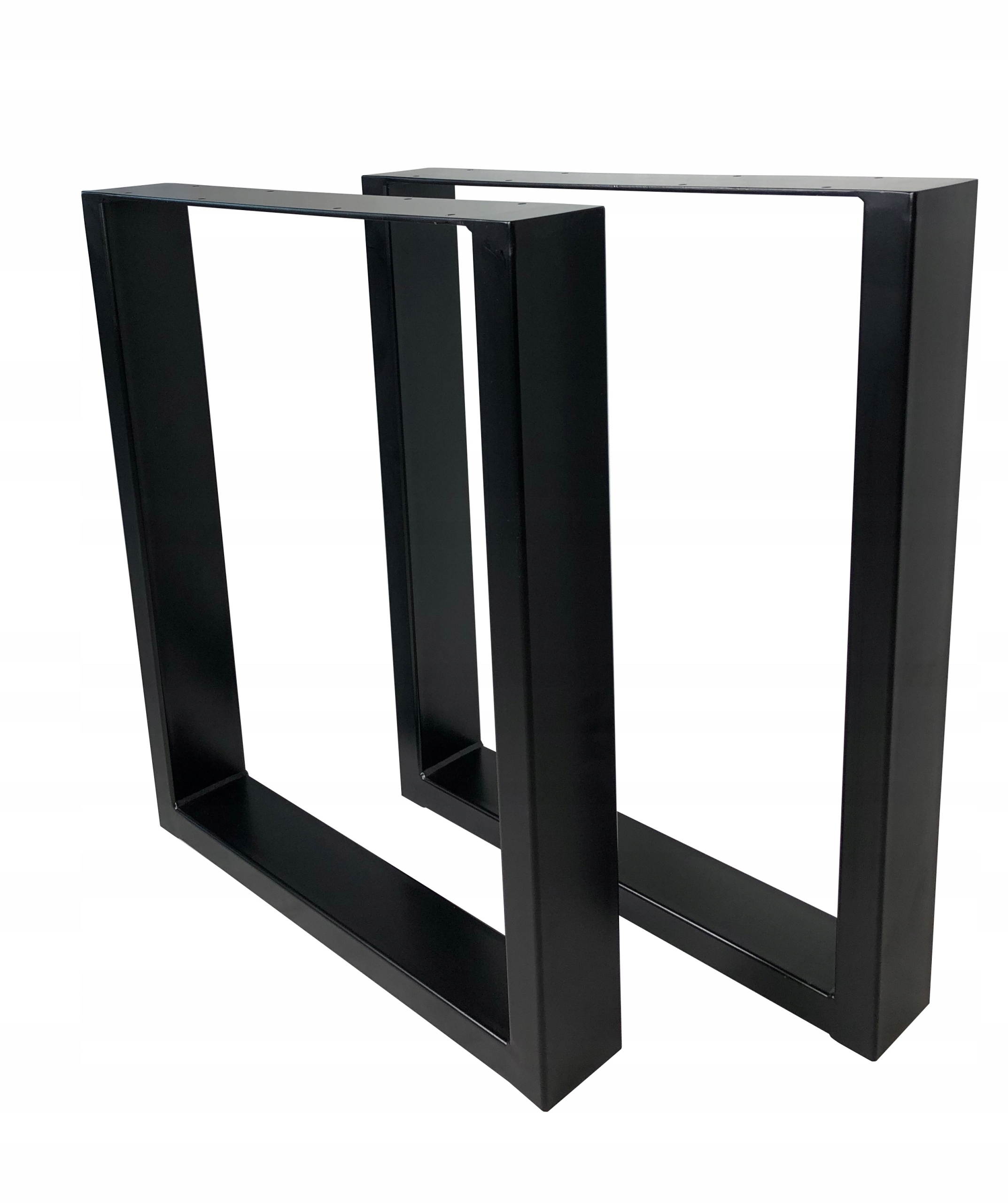 2x kovové stolové nohy čierne 60x72 cm (100x40)