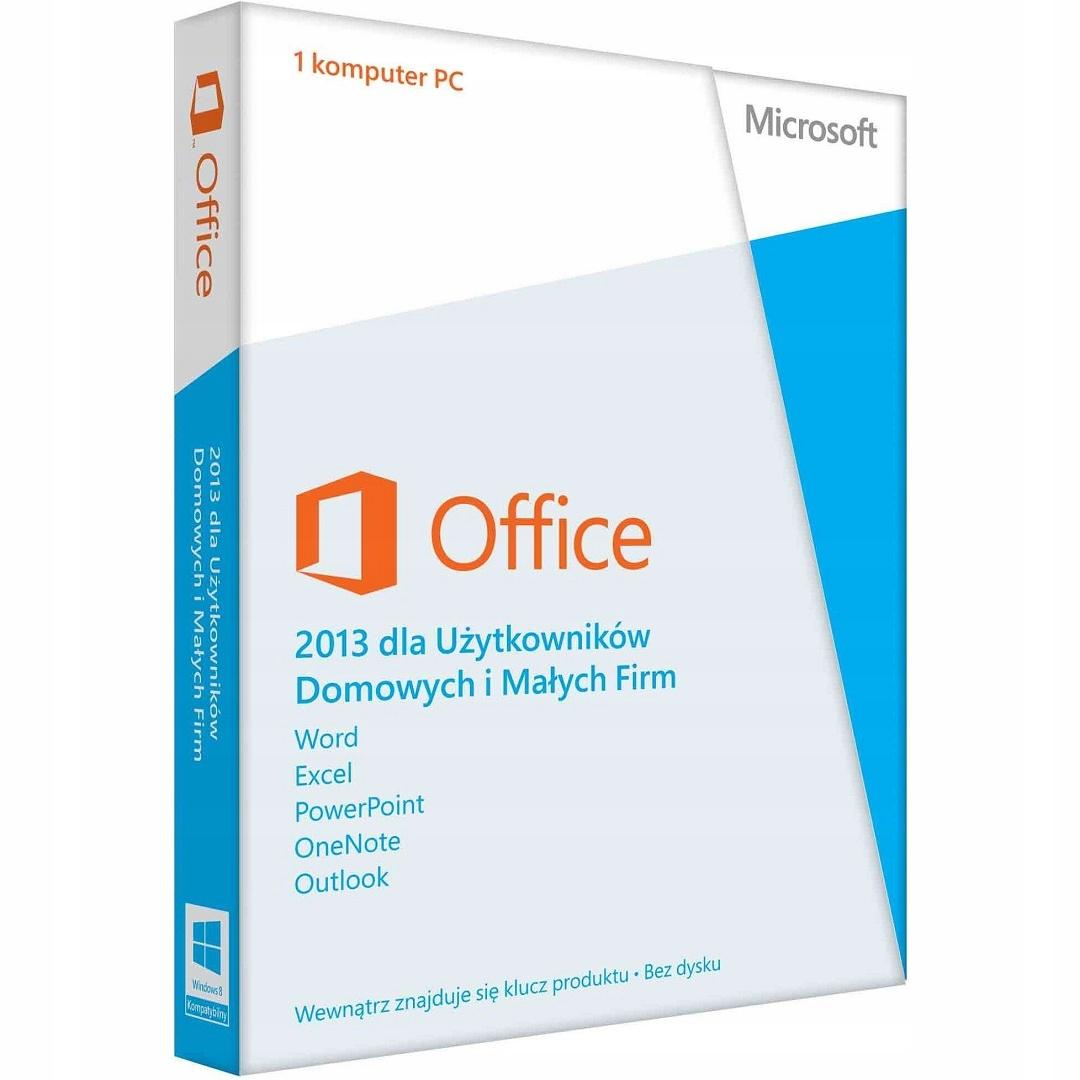 MS Office 2013 для БИЗНЕСА И ДОМА Box RU доставка товаров из Польши и Allegro на русском