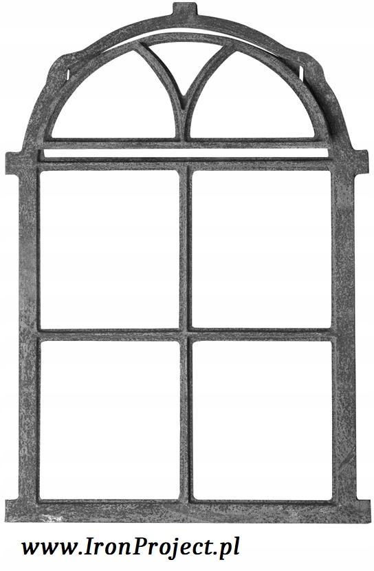 NOVÉ okná, liatinové pol kola, flip retro 75x50cm