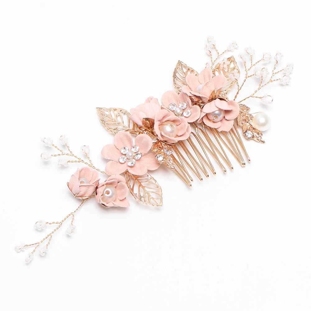 Гребешок золотой головной убор украшения для волос цветы свадьба