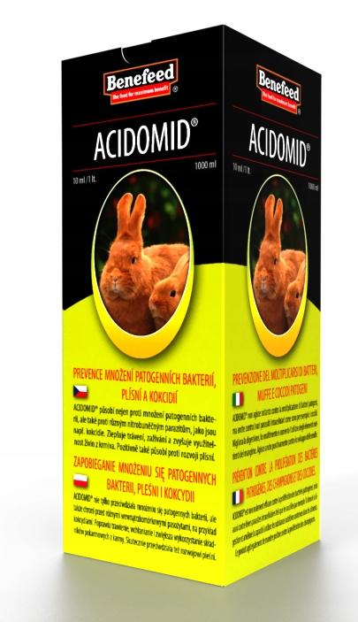 Acidomid + Rabitin zakwaszacz, vitamíny pre králiky
