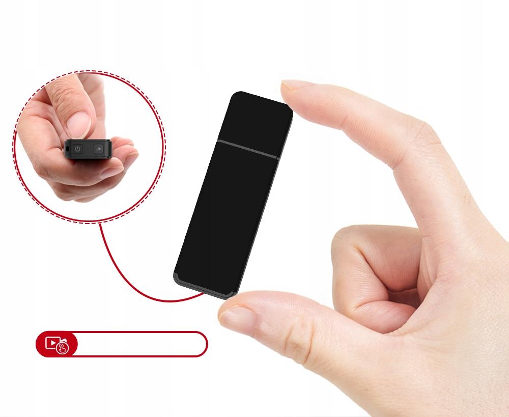 PENDRIVE MINI KAMERA USB FULL HD DETEKCJA DO 128GB Stabilizacja Brak