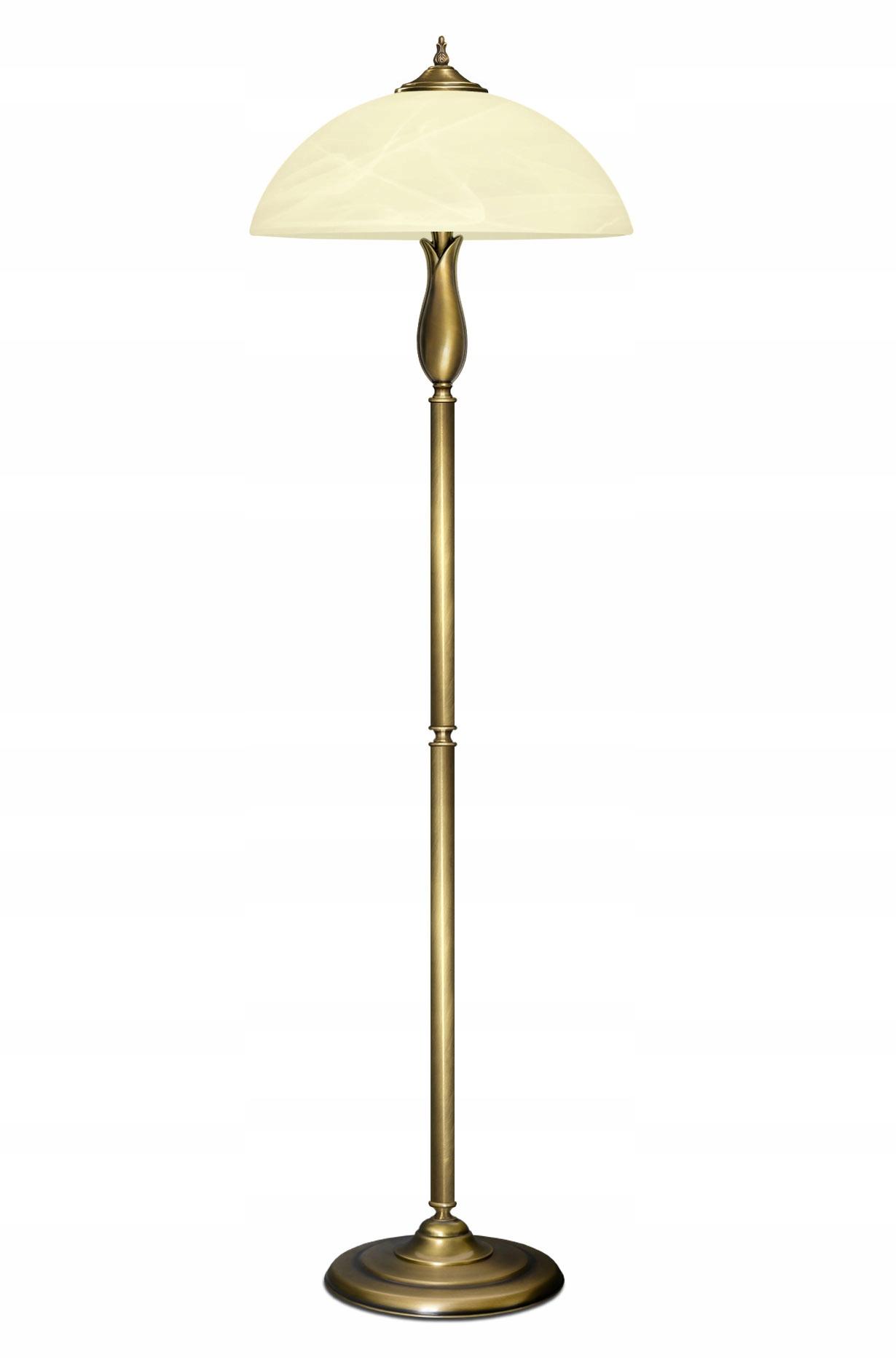 Podlahová lampa MOSADZ, patina, klasické SeriaM