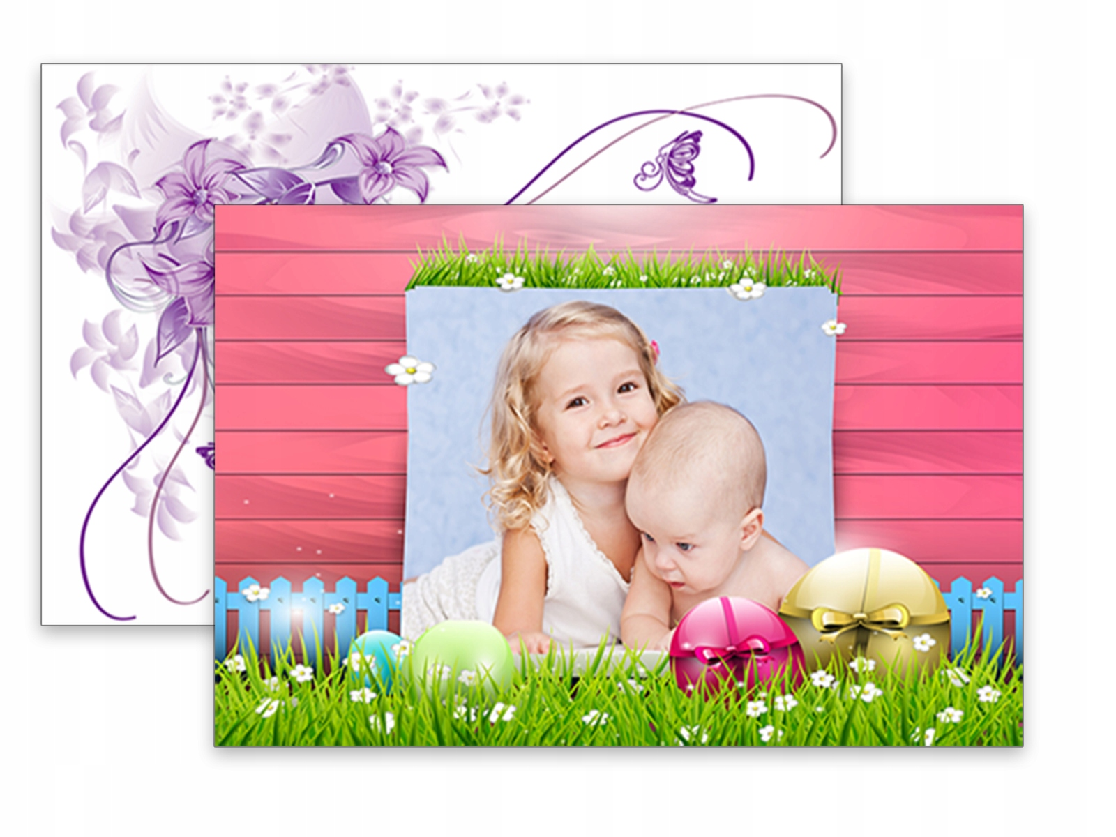 FOTO KARTKI POCZTÓWKI Wielkanoc 10x15 prezent