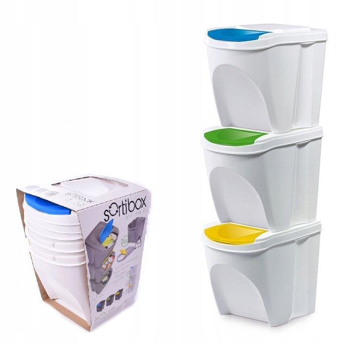 Набор 3x КОРЗИНА для сегрегации мусора 3x20l