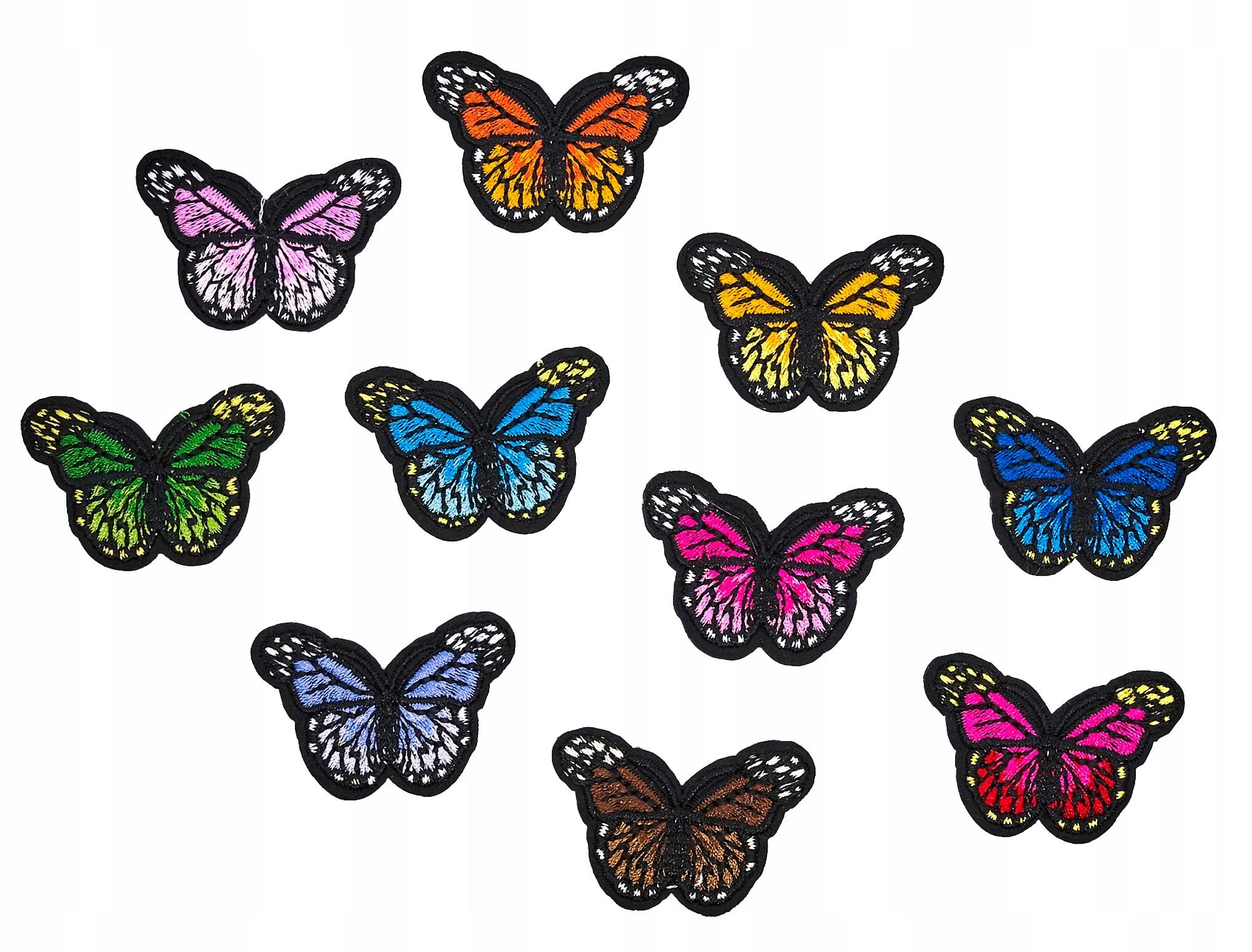 Motyle Naszywki Termo Naprasowanki Zestaw 10 Szt 8881732170 Allegro Pl