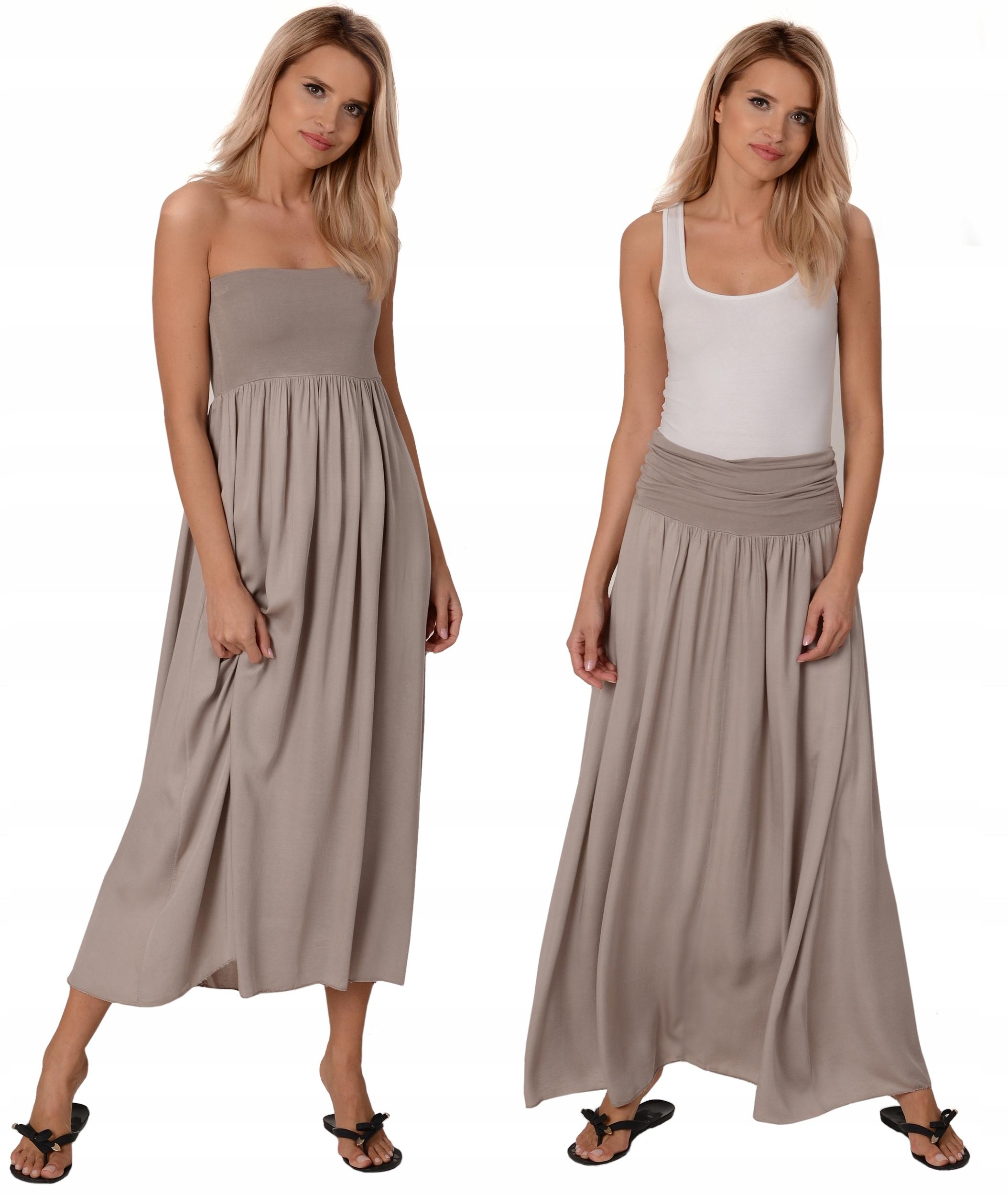 Maxi Długa Spódnica Sukienka Big Size od 2XLdo 5XL
