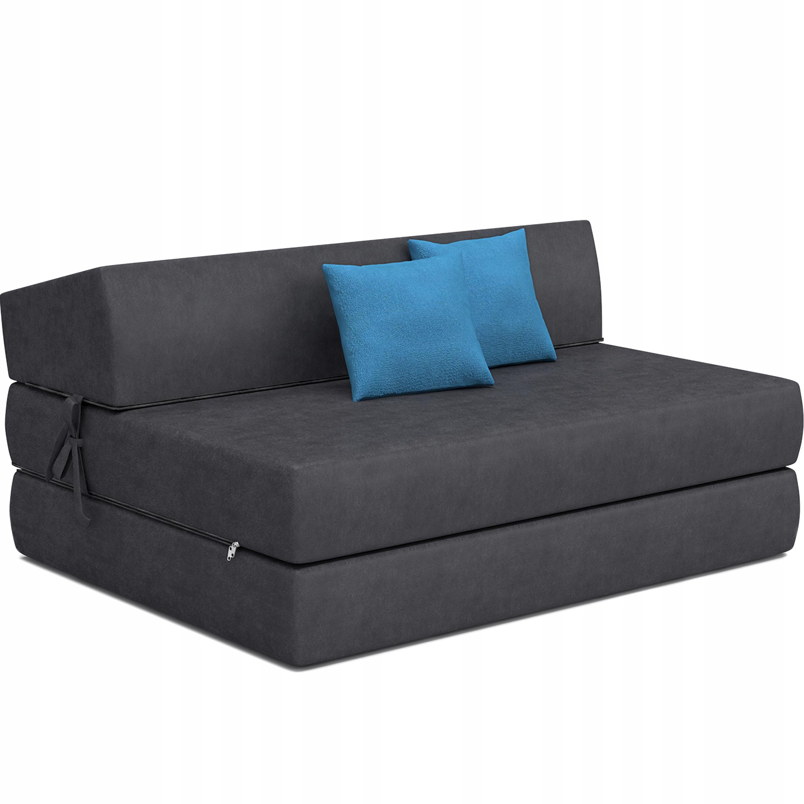 Диван-кресло с откидывающимся матрасом с подушками