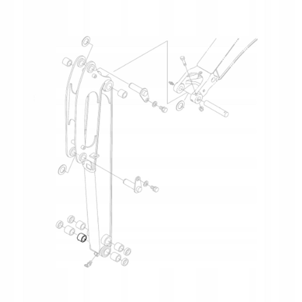 KUBOTA RG138-66660 KX018 Втулка рычага экскаватора