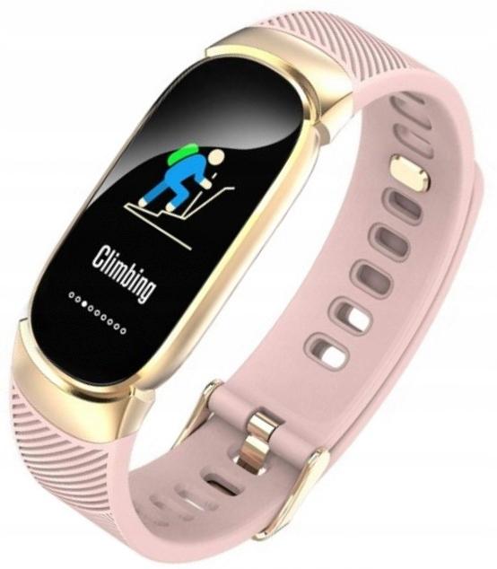 Smartwatch Rozowy Bialy Zegarek Pulsometr Kroki 9025205195 Allegro Pl