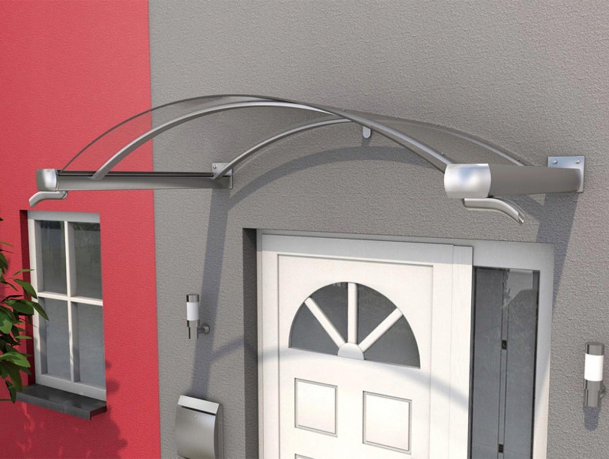 Strieška nad dvere 4 mm akrylová, strecha s efektom ocele