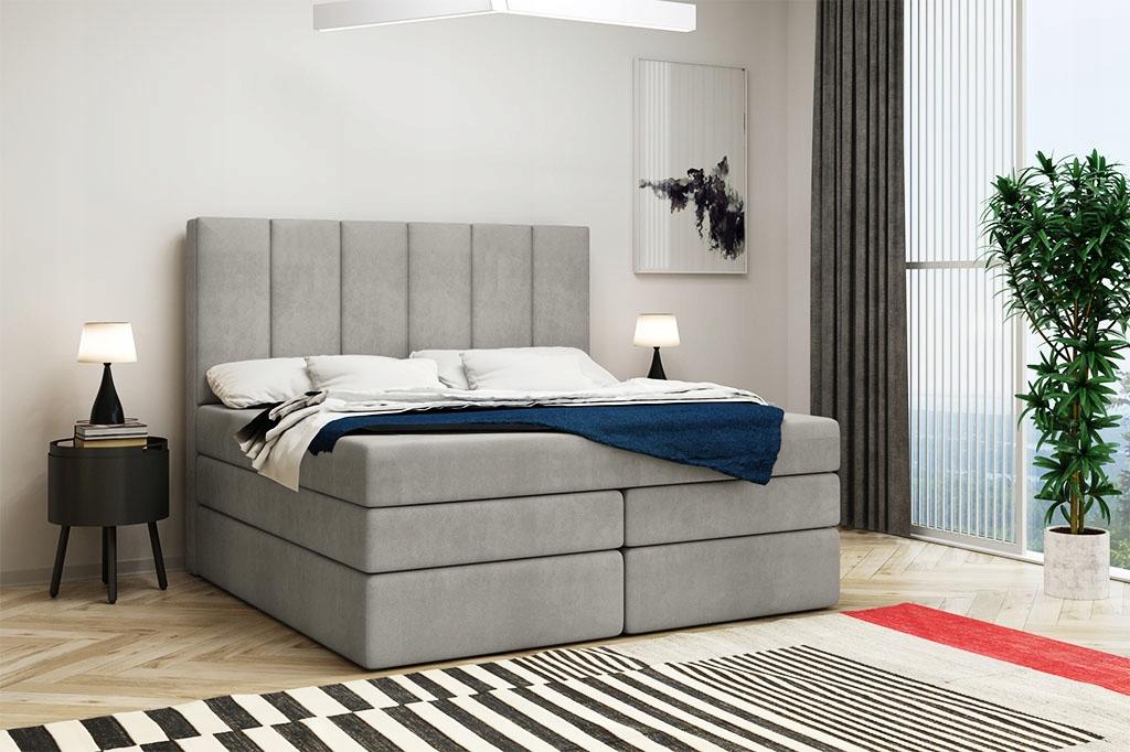 Кровать континентальная 140х200 высотой 2 МАТРАСА