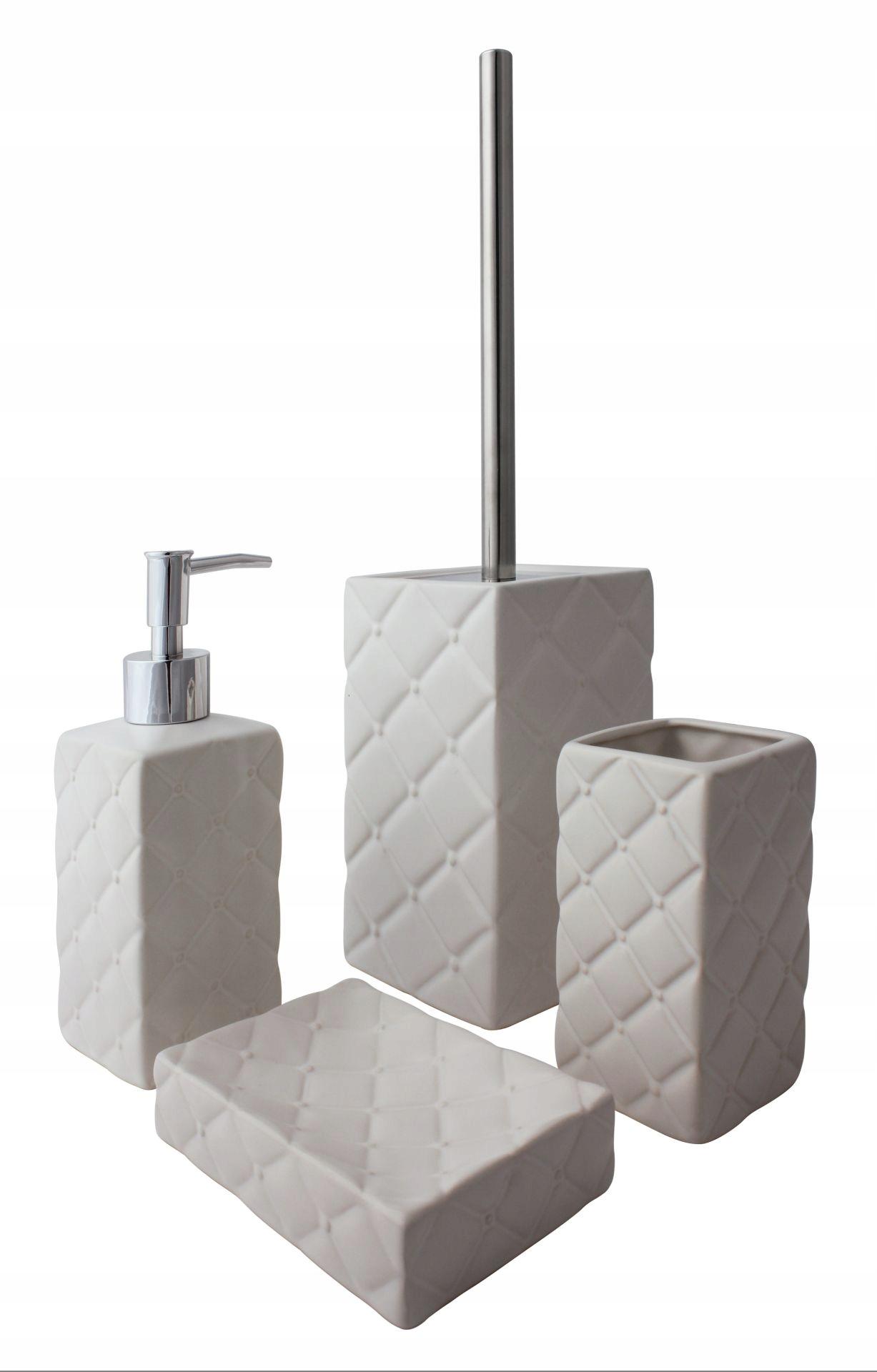 Kúpeľňová súprava Punch 4 elem glamour cream