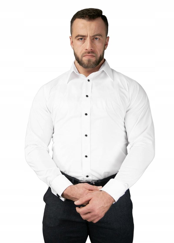 Biała Koszula dla Kulturysty ATLETO 43176 182  5cPup