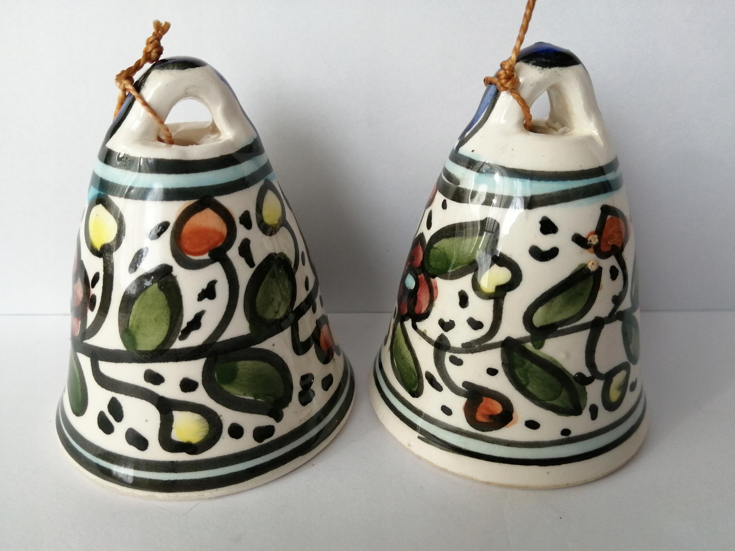 dzwonek dzwonki ceramika szkliwiona
