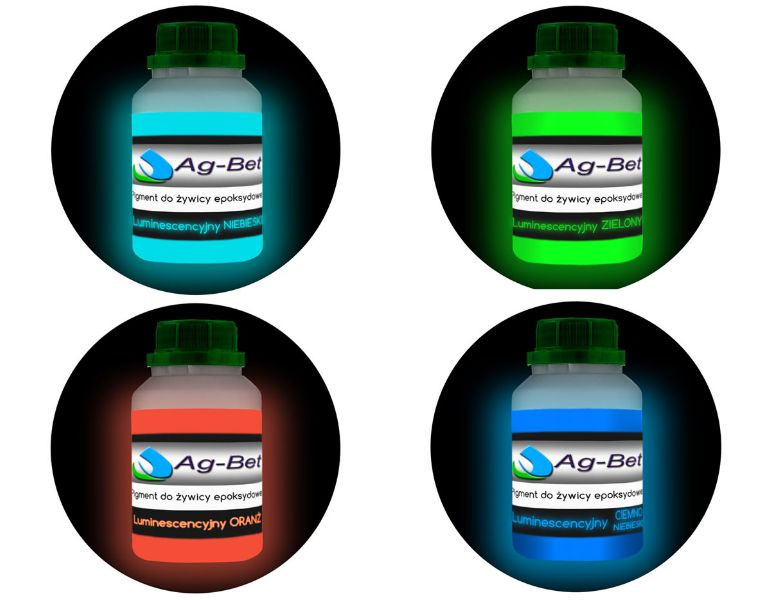 Item A set of dyes for luminescent resin Epo