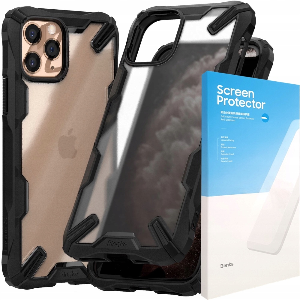 Etui Ringke Fusion-x Iphone 11 Pro Max+ Szkło 0,15
