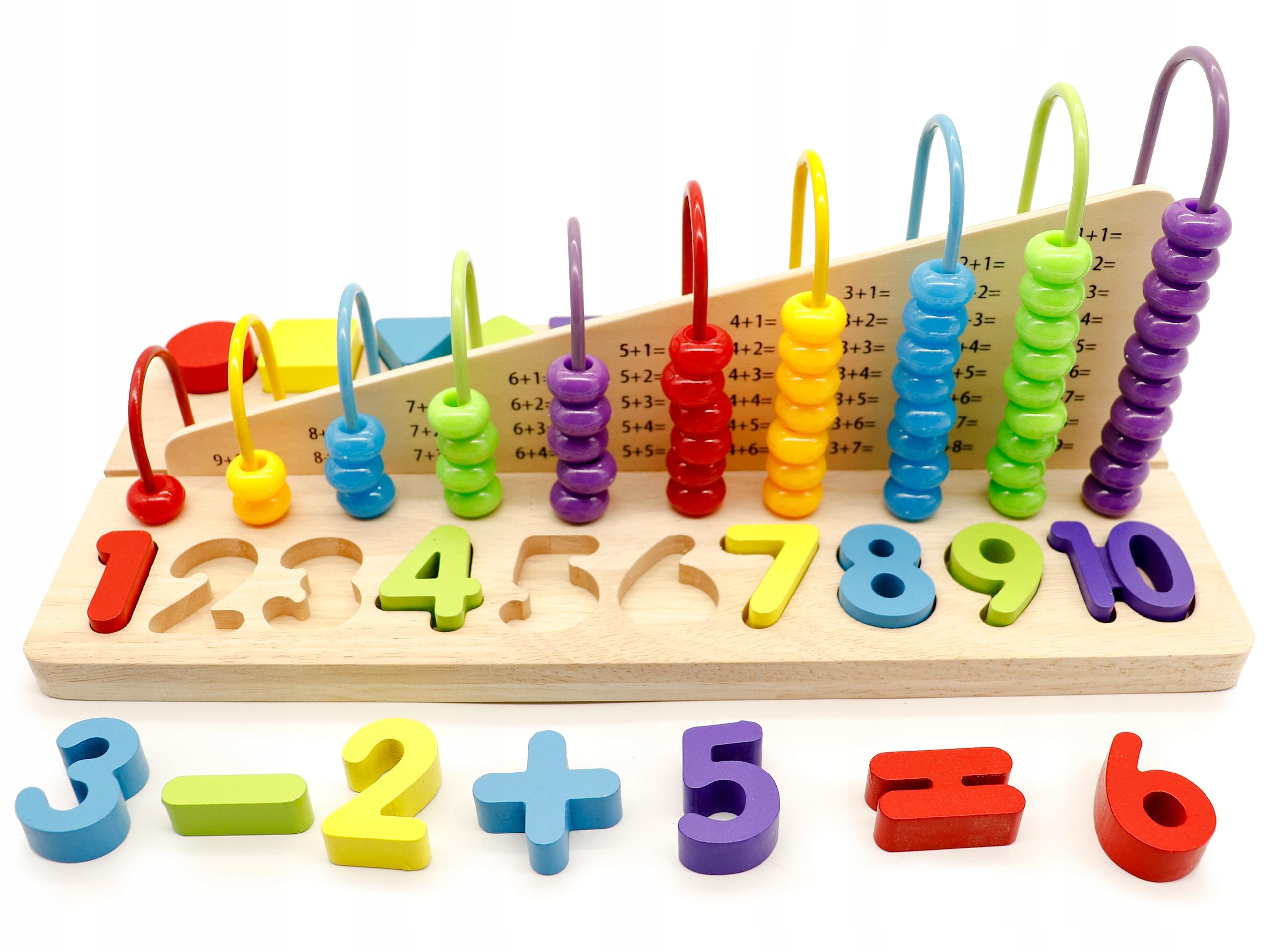 Zabawka Edukacyjna Liczydlo Klocki Cyfry Ecotoys 8698526722 Allegro Pl