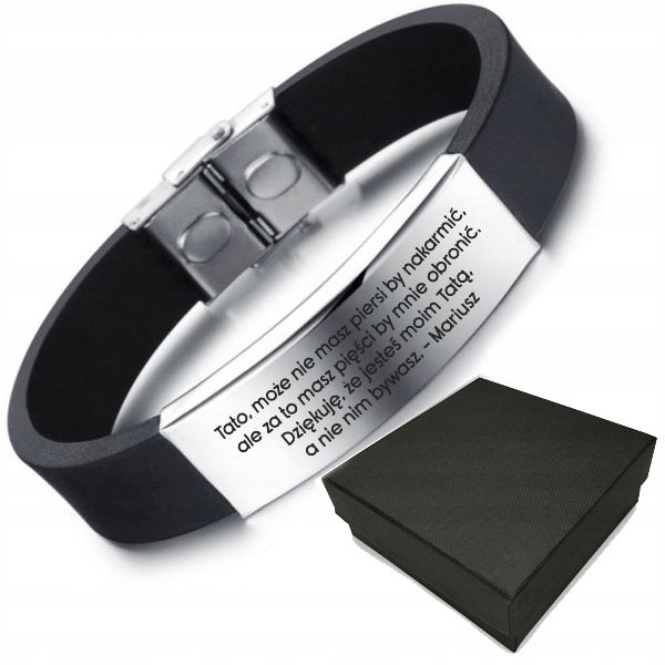 Item BRACELET FOR DAD, GIFT FOR FATHER'S DAY ENGRAVER