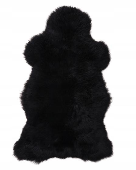 Koberec Kožené Jahňacie, Čierny Farbowanana 100-120 cm