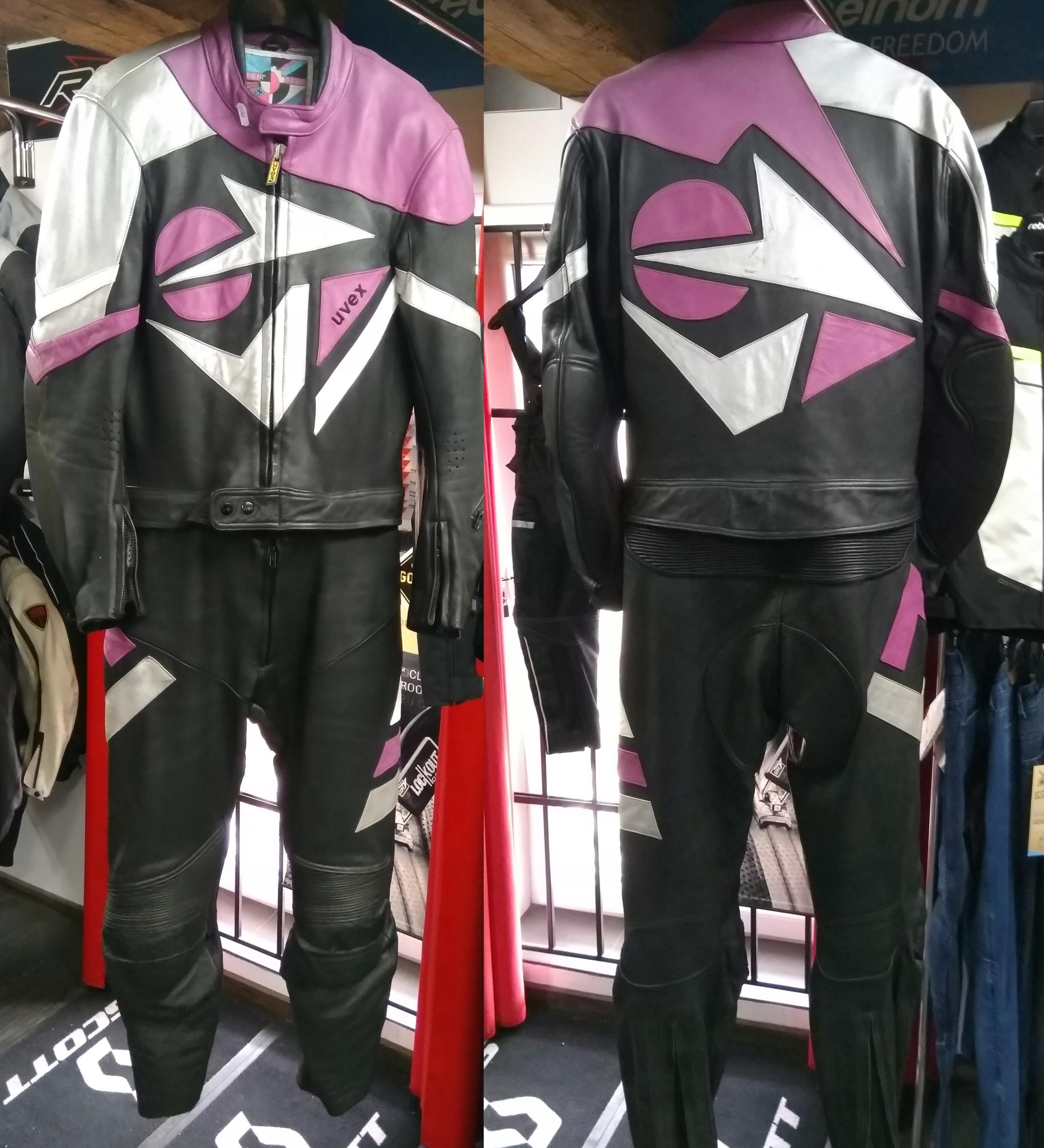 Motocyklový kožený oblek UVEX RETRO nový!