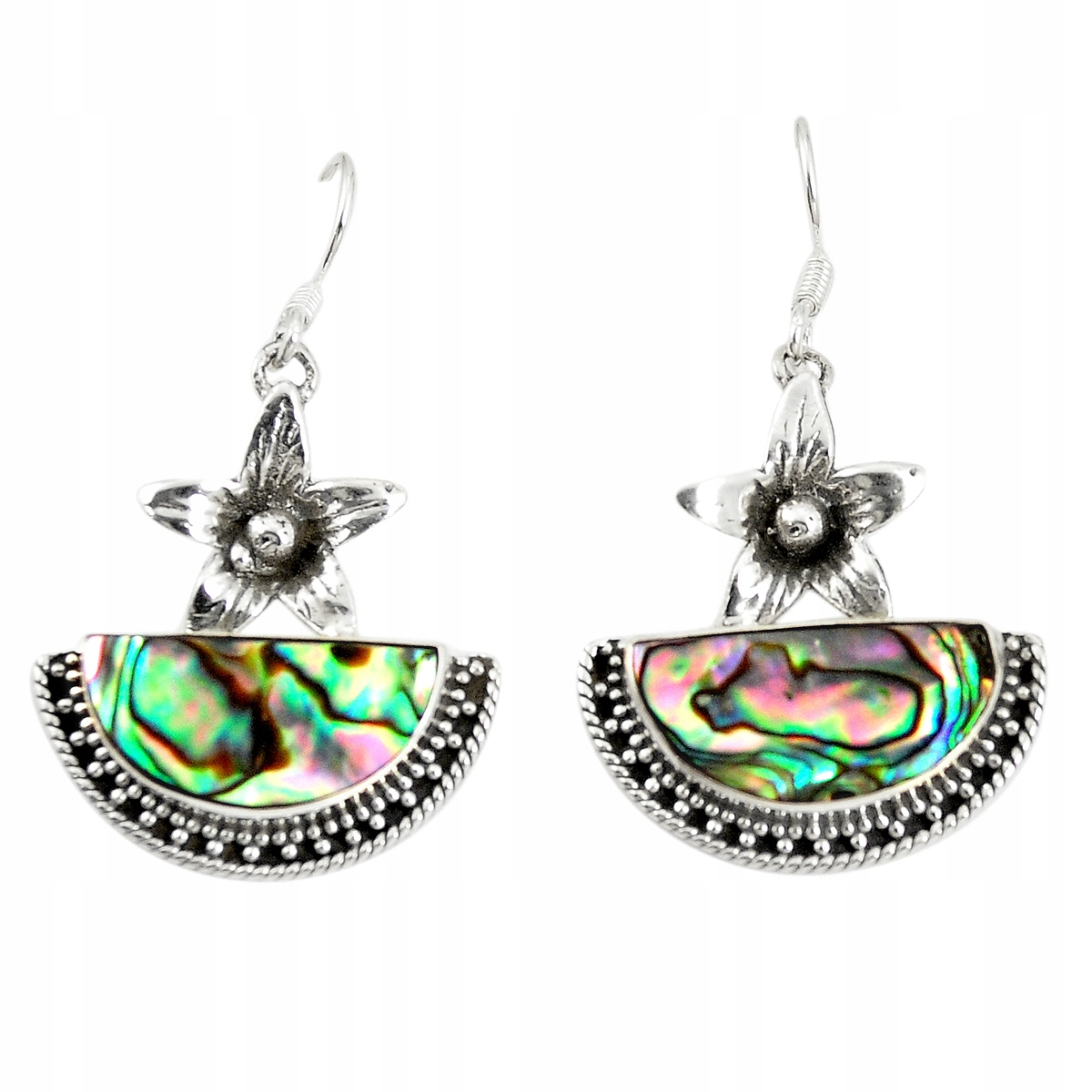 925 Sterling Silver Rainbow Shell Paua