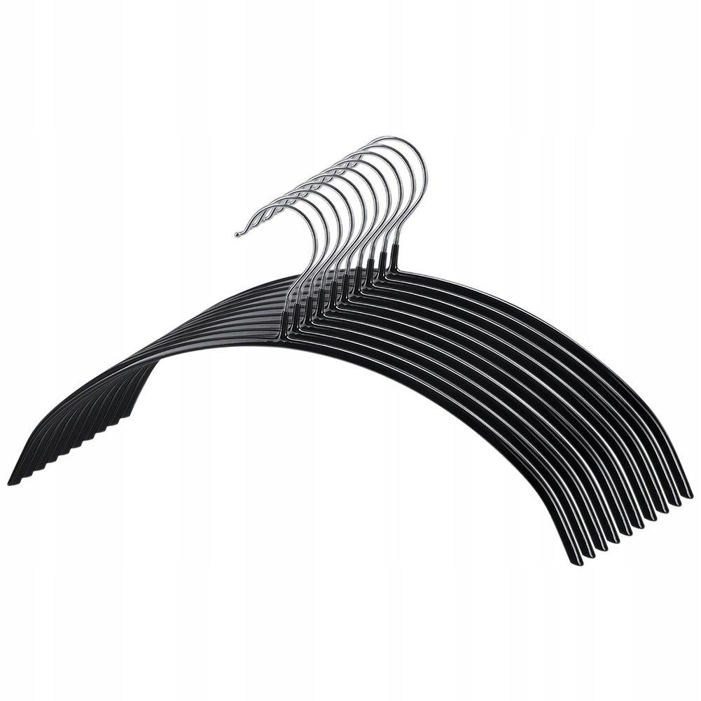 10 x kovové Vešiak , čierna