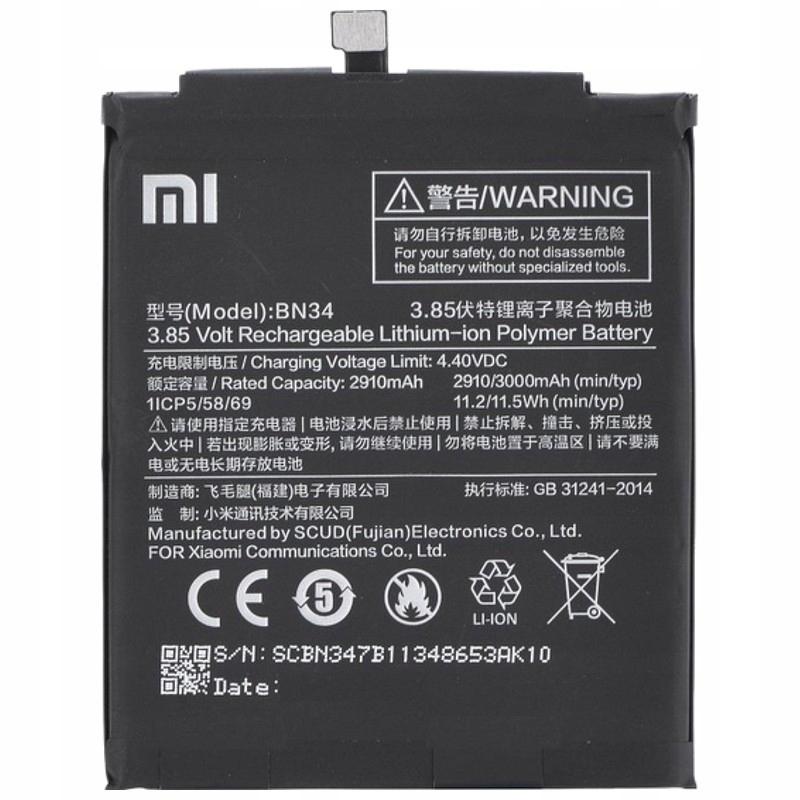 Bateria Xiaomi BN34 Redmi 5A
