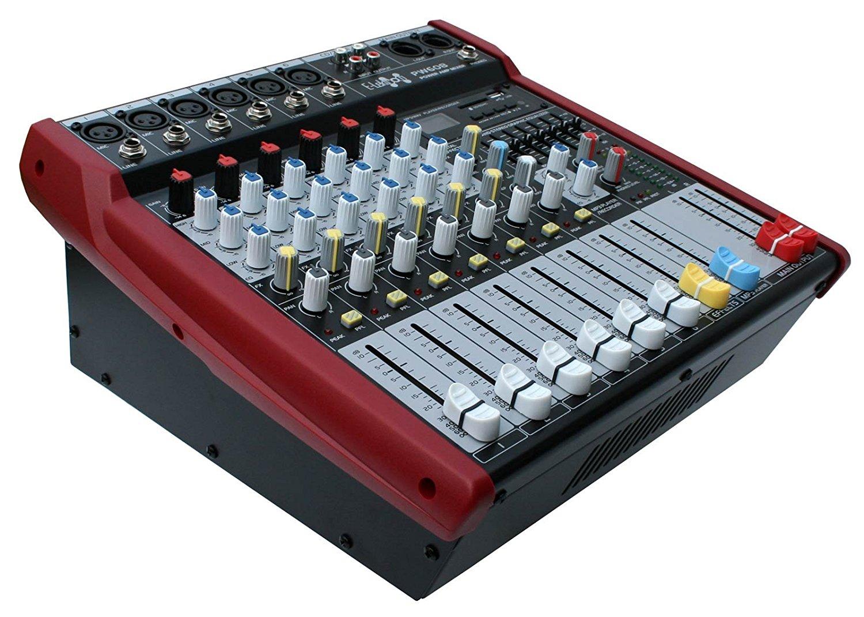 Купить Powermixer E-Lektron ПМ-608 6 каналов,USB 2x250W на Otpravka - цены и фото - доставка из Польши и стран Европы в Украину.