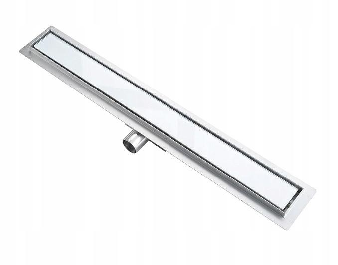 LINEÁRNE ODVODNENIE štíhle biele sklo 70 cm