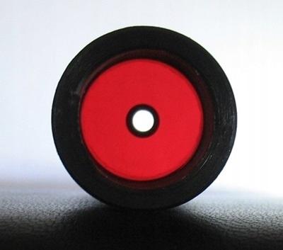 Vložky sú akejkoľvek veľkosti, červená farba transparentná