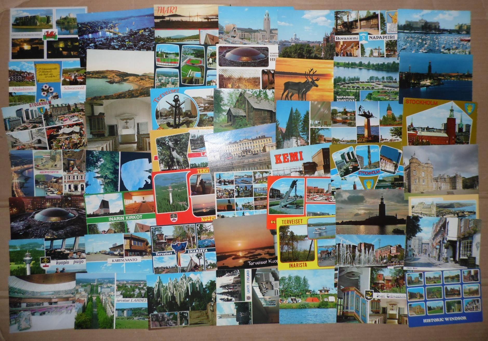 Zestaw zagranicznych pocztówek ok. 950 sztuk