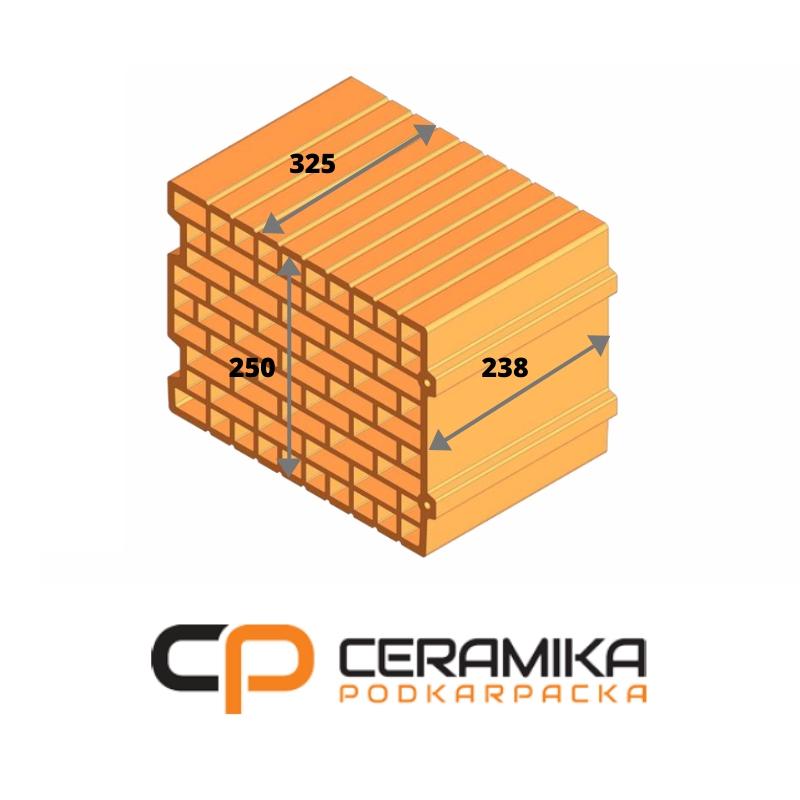 Пустак 25 P + W POROTHERM SUBCARPATHAN CERAMICS + HDS