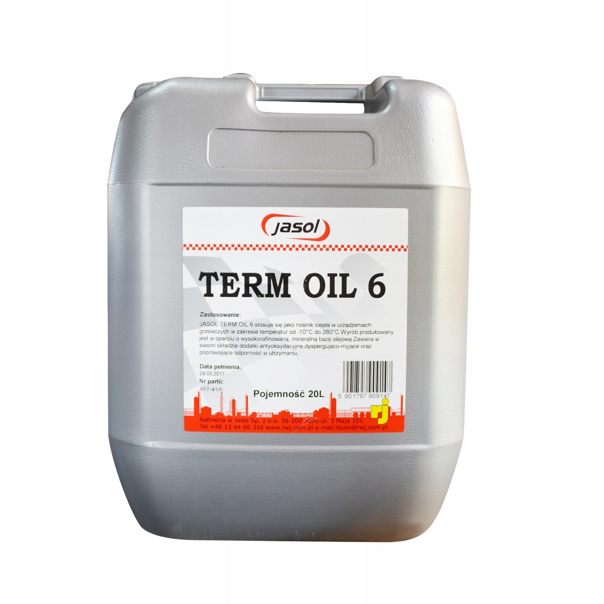 Топочный мазут JASOL TERM OIL 6 20 литров