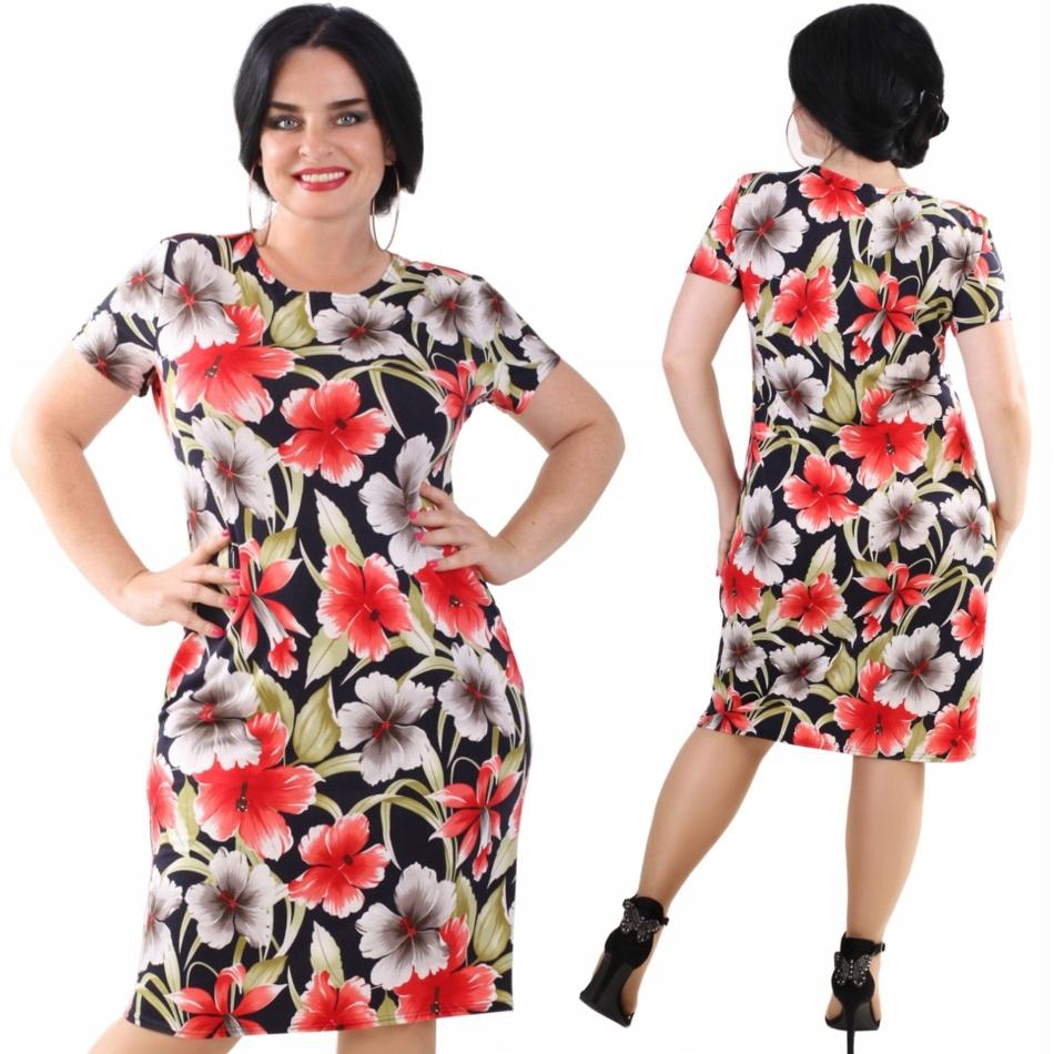 P46 Zwiewna letnia sukienka w Kwiaty R50