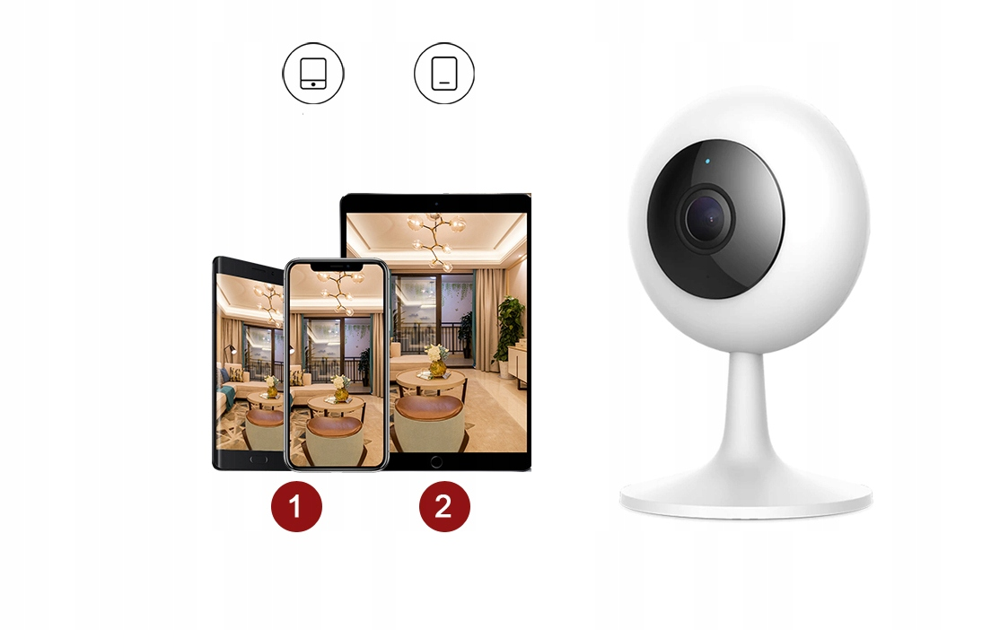 IMILAB MI HOME 1080p H.265 Kamera IP 64GB NIANIA Marka IMILAB