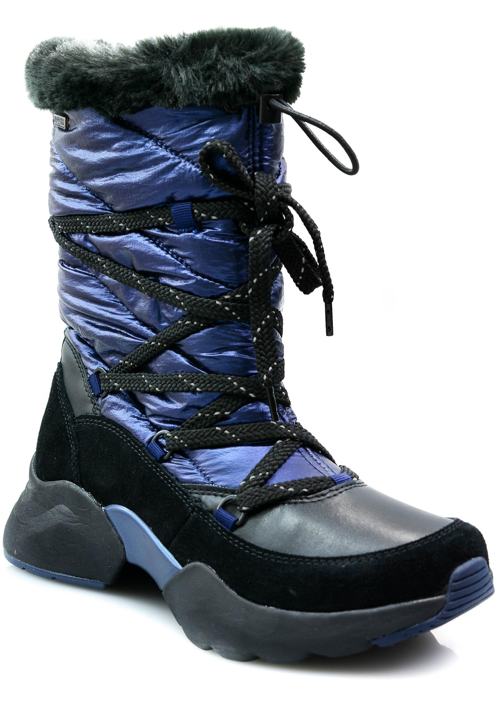 Botki Tamaris 26481 granat 38 skóra buty śniegowce