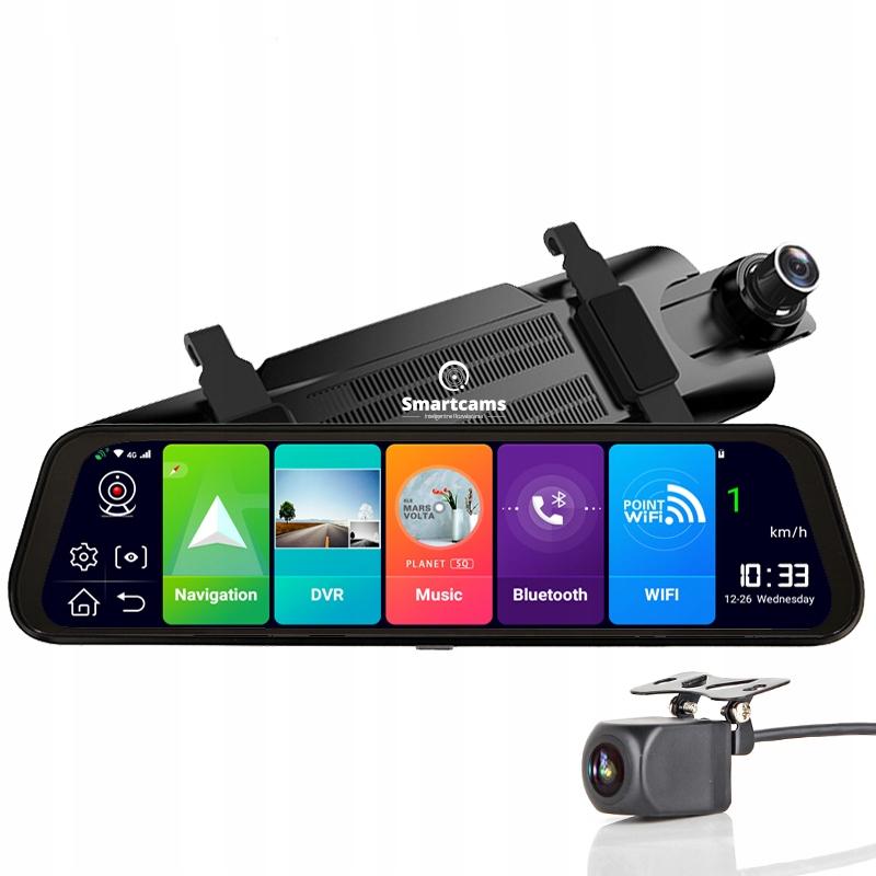 2020 Зеркальный регистратор Android ADAS 4G WiFi GPS