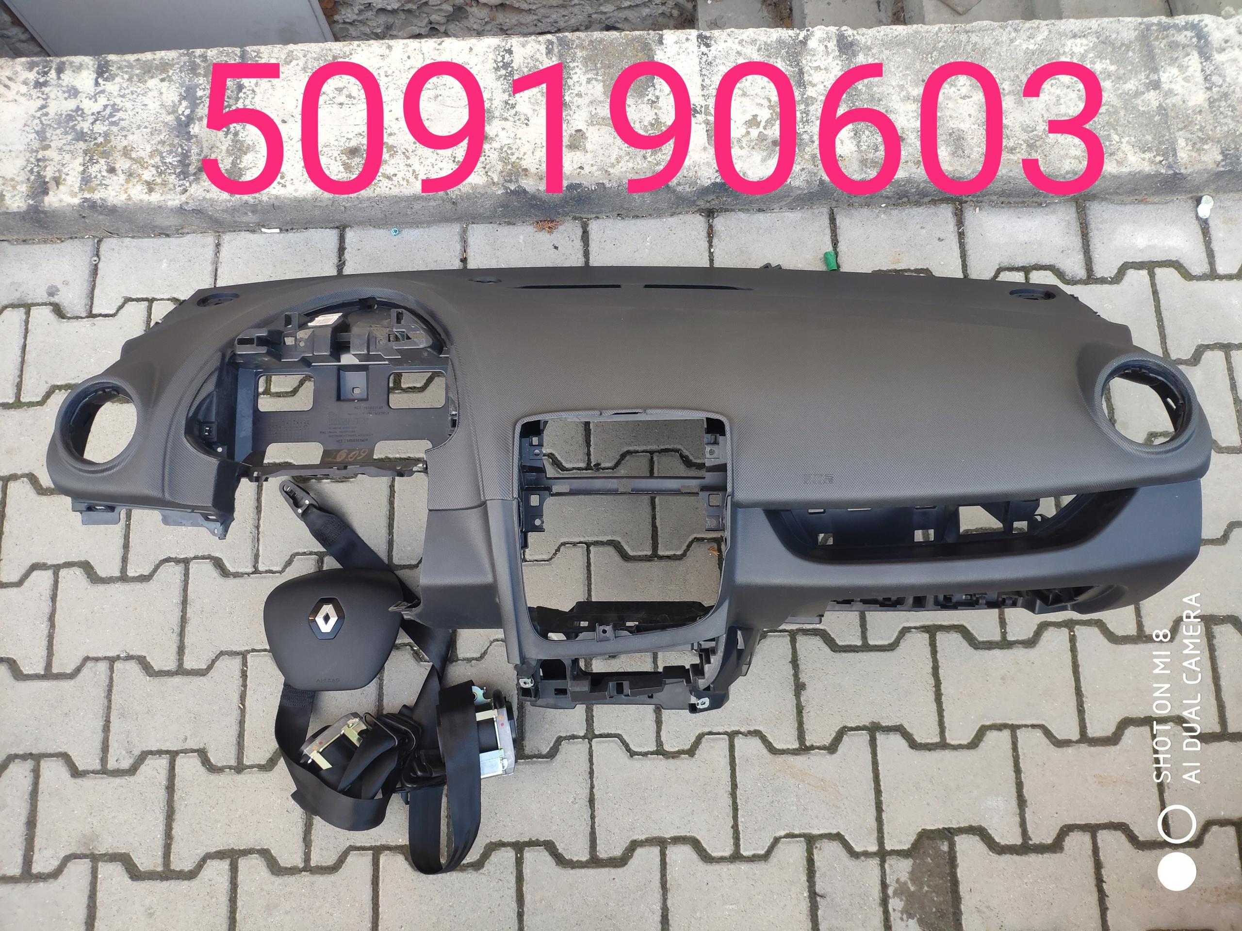 clio 4 iv доска airbag консоль кокпит ремни